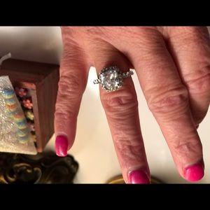Fashion Cubic Zircon Silver Rings size 8